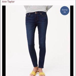 Ann Taylor curvy fit skinny jeans